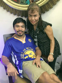 Manny Pacquiao & Mommy D.